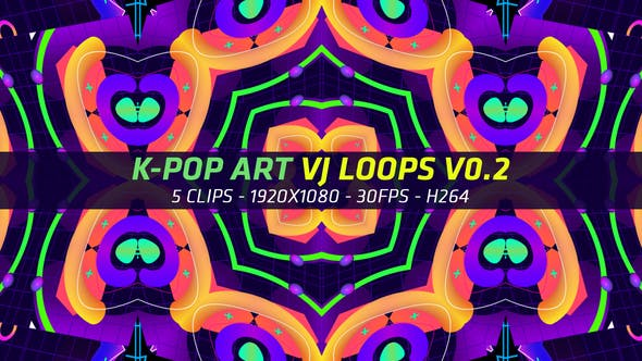 Thumbnail for K-Pop Art VJ Loops V0.2