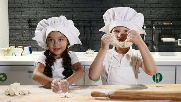 Thumbnail for Children Have Fun While Cooking Together