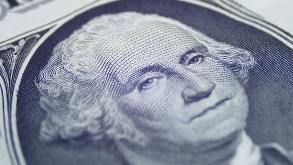 Thumbnail for Slow Rotating George Washington Portrait on One Dollar Bill
