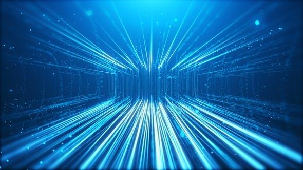 Thumbnail for Blue Particals Rain Up Flow