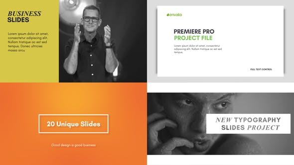 Thumbnail for Typography Slides - for Premiere Pro | Essential Graphics