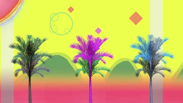 Thumbnail for Retro Palms In Motion