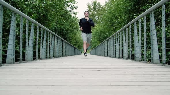 Thumbnail for Fitness Background Man Training On Healthy Park Jog