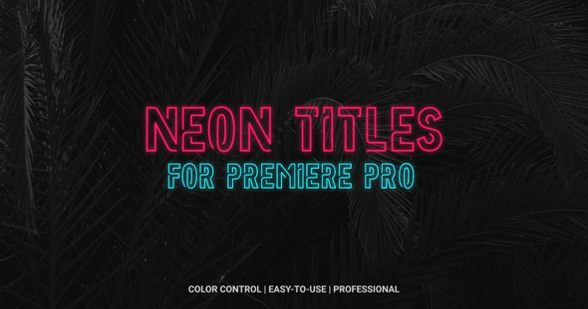 Download Neon Titles by flikmotion