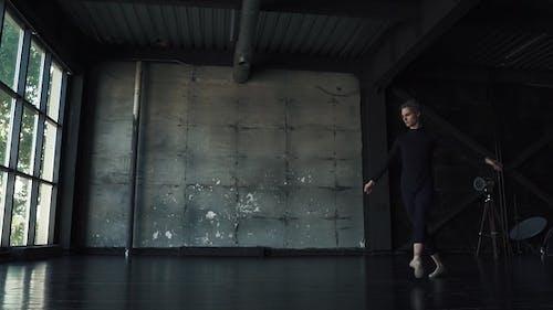 Ballet Dancer Dancing in the Studio