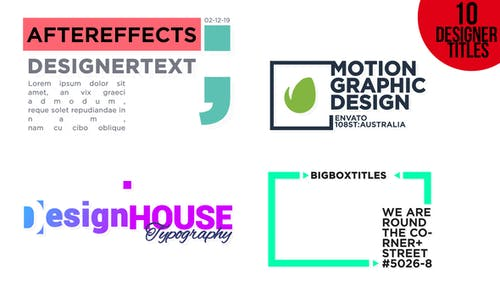 Designer Titles