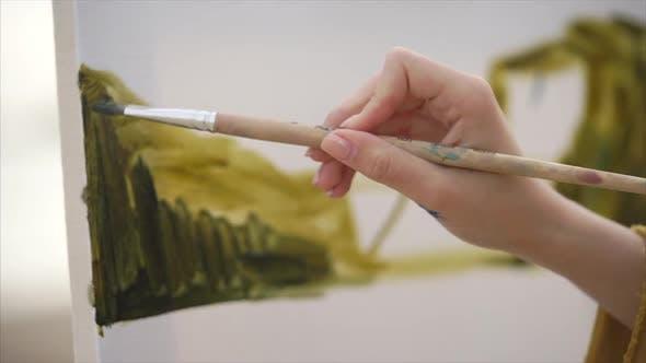 Nahaufnahme des Zeichnungsprozesses