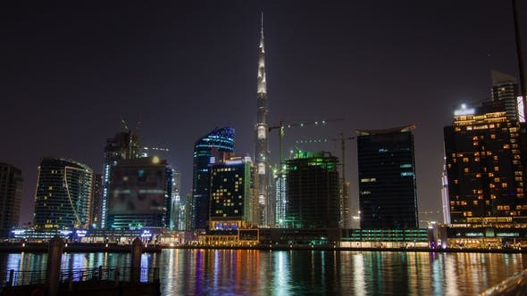 Thumbnail for Night View with Reflection Business Bay Dubai