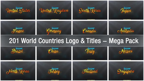 Thumbnail for 201 World Countries Logo & Titles - Mega Pack