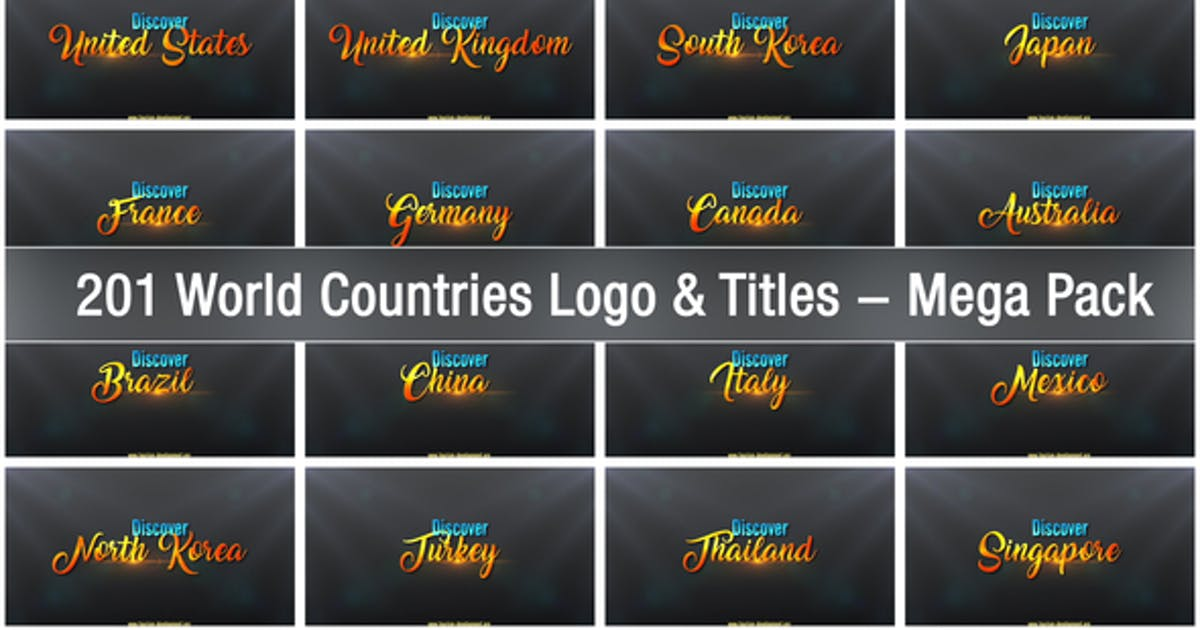 Download 201 World Countries Logo & Titles - Mega Pack by StrokeVorkz
