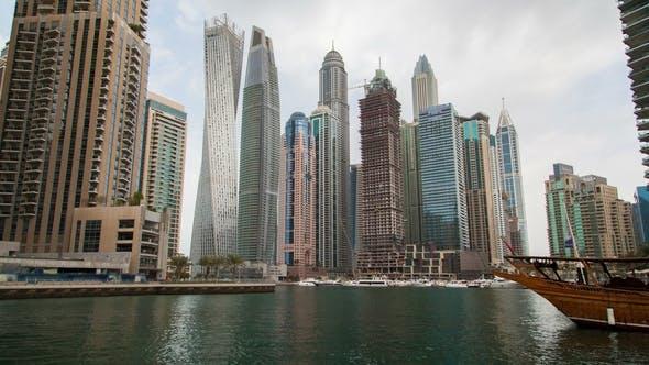 Thumbnail for Dubai Marina Skyscrapers Day