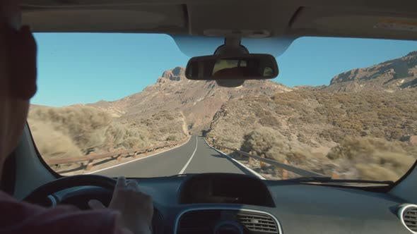 Cover Image for Road Trip in the Mountains. Tenerife Landscape