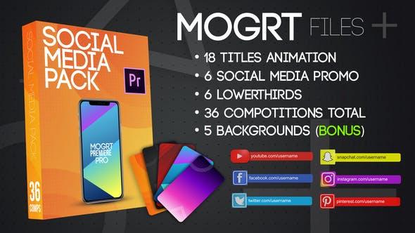 Thumbnail for Social Media Pack MOGRT
