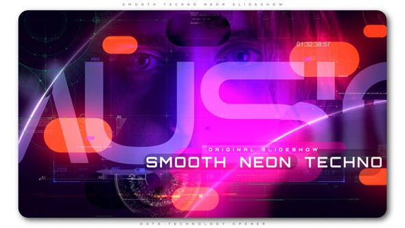 Cover Image for Smooth Techno Neon Slideshow
