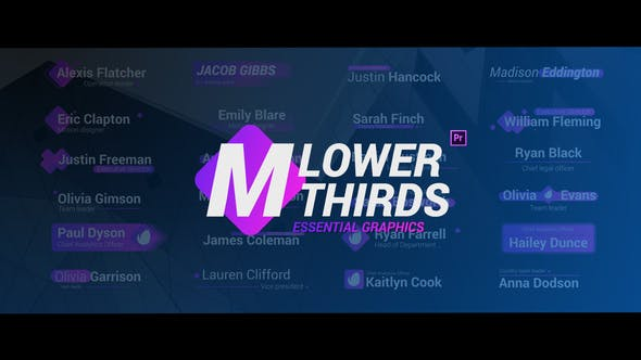 Thumbnail for Modern Lower Thirds - Essential Graphics