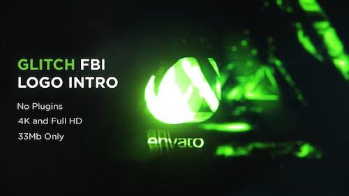 Glitch FBI Logo Intro