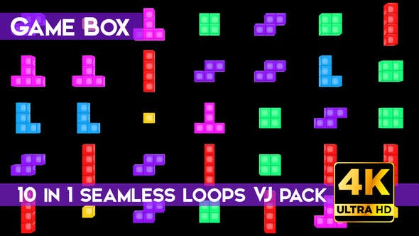 Thumbnail for Game Box VJ Loops Pack