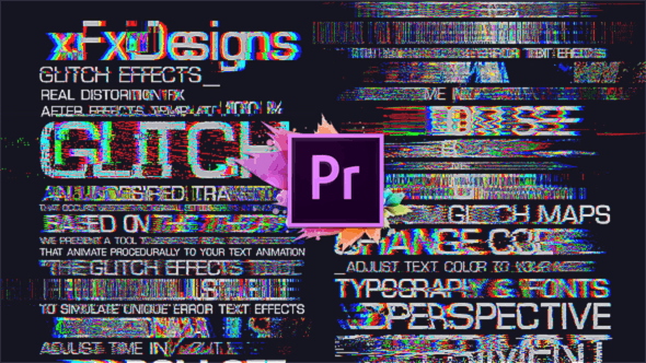 Thumbnail for 30 Glitch Text Presets For Premiere Pro | Mogrt