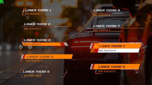 Racer Lower Thirds