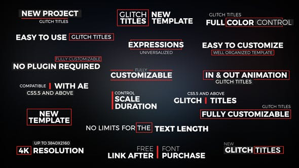 Thumbnail for Glitch Titles // Essential Graphics