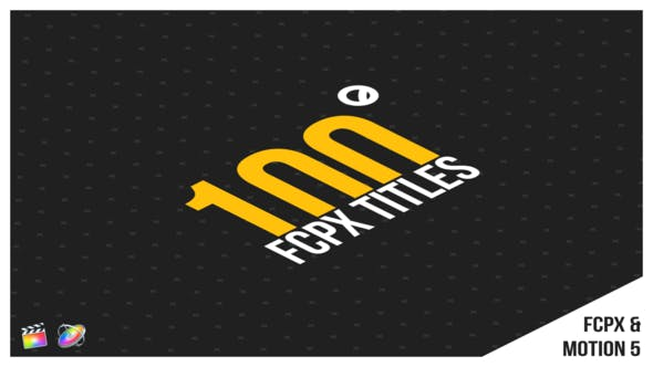 Thumbnail for 100 Titles | FCPX or Apple Motion