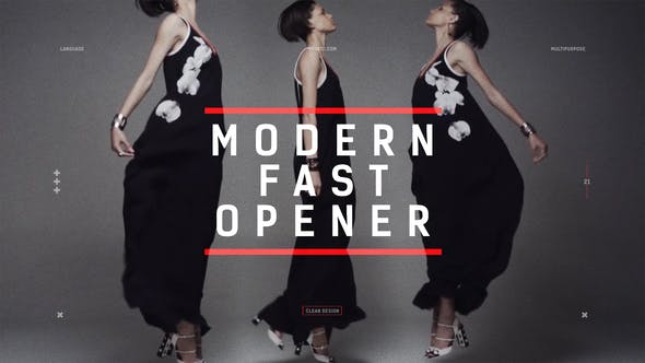 Thumbnail for Modern Fast Opener / Dynamic Typography / Fashion Event Promo / Clean Stomp Rhythmic