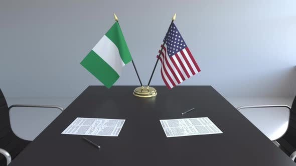 Thumbnail for Flags of Nigeria and the United States