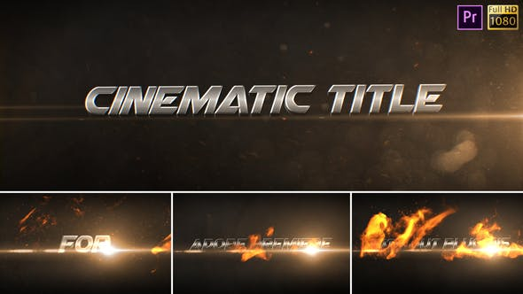 Thumbnail for Cinematic Titles - Premiere Pro