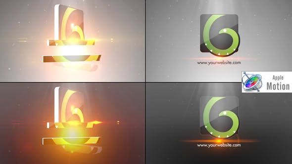 Thumbnail for Simple Minimal Flip Logo - Apple Motion
