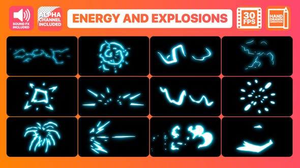 Thumbnail for Energy And Explosion Elements + Titles