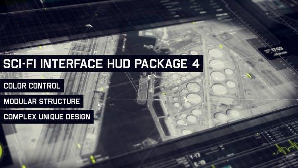 Sci-fi Interface HUD Pack 4