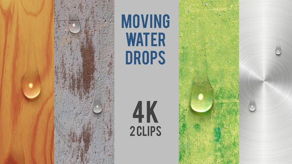 Transparent Moving Water Drops 4K