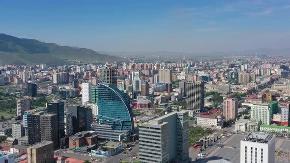Thumbnail for Aerial Around View of Center of Ulaanbaatar City
