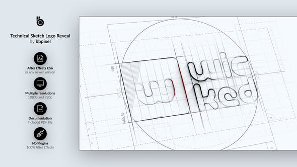 Thumbnail for Technical Sketch Logo Reveal