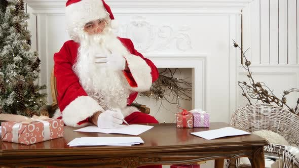 Thumbnail for Santa Claus Thinking What To Write in His Christmas Letter