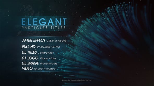 Thumbnail for Elegant Particles Titles