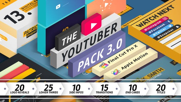 Cover Image for The YouTuber Pack 3.0 - Final Cut Pro X