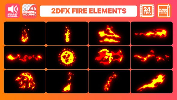 Thumbnail for Hand Drawn Fire Elements + Titles Pack
