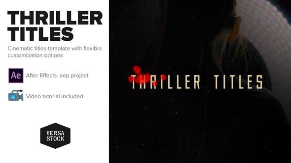 Thriller Titles