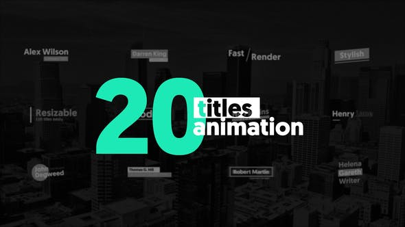 Thumbnail for 20 Animated Titles