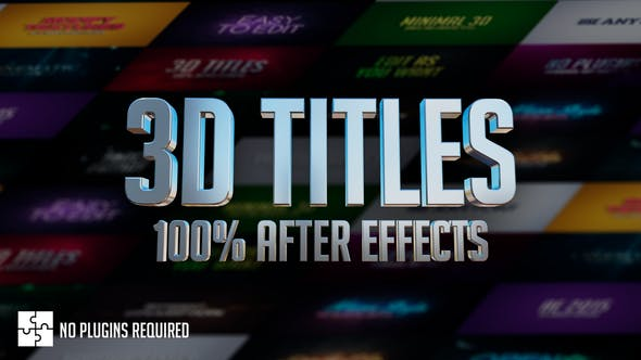 Thumbnail for 3D Titles - No Plugins
