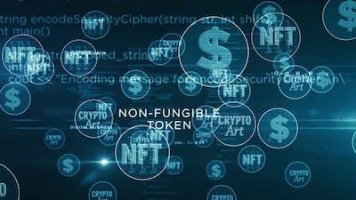 NFT Crypto Art symbols loop