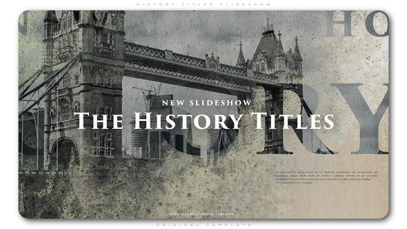 History Titles Slideshow