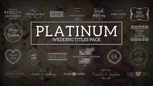 Platinum   Wedding Titles Pack