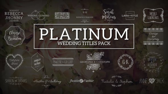 Thumbnail for Platinum | Wedding Titles Pack