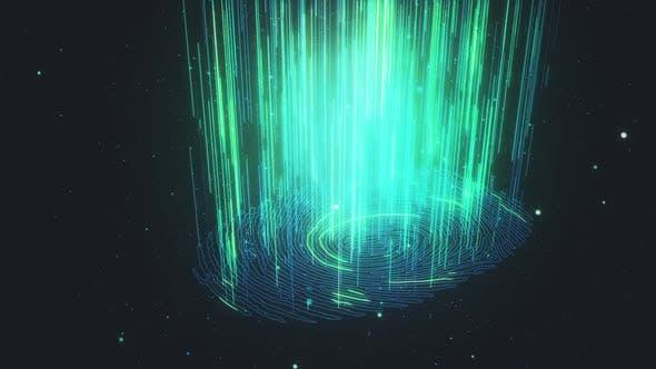 HD Digital Fingerprint Scanning Cyber Identification HUD Hologram