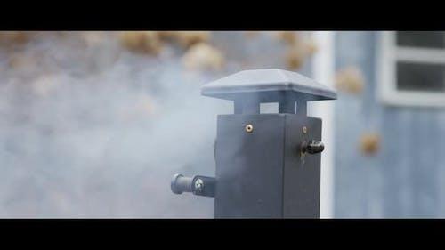 BBQ smoker with ribs inside - BBQ 003