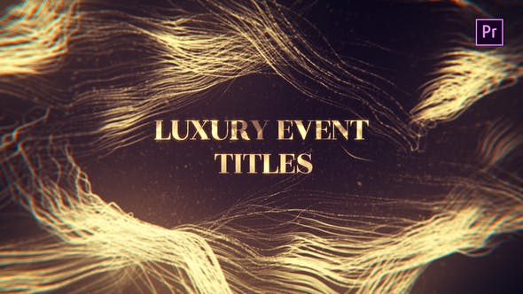 Thumbnail for Luxury Event Titles Mogrt