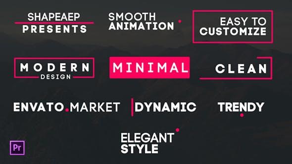 Thumbnail for Titres minimaux pour Premiere Pro | Essential Graphiques