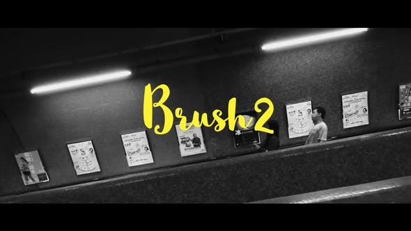 Thumbnail for Brush 2- Handwritten Animated Typefaces